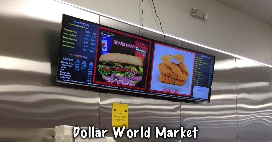 HD Sign Design Digital LCD Menu Boards