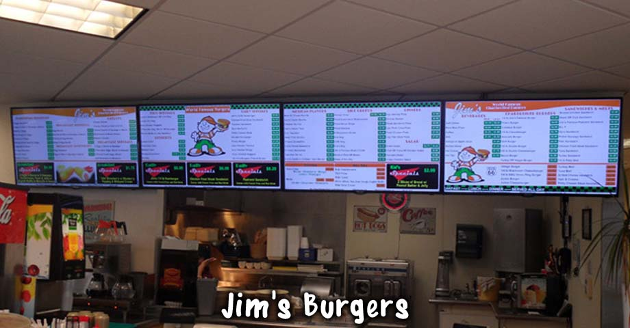 HD Sign Design digital menu display boards