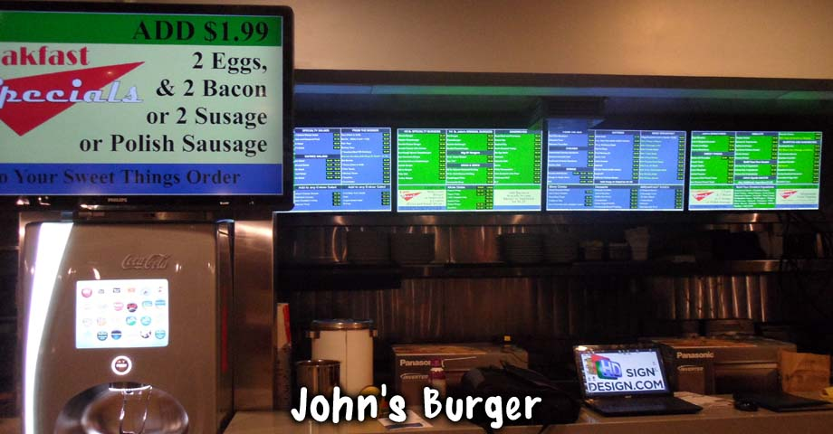 HD Sign Design digital menu examples