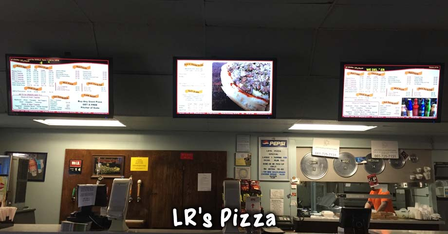 HD Sign Design digital menu on TV