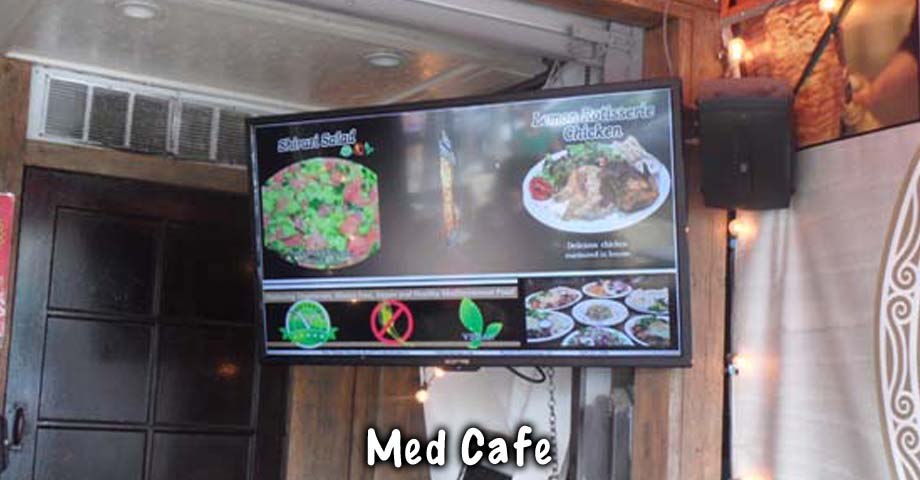 HD Sign Design digital menu screen