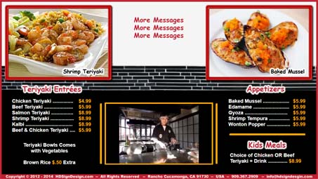 HD Sign Design Digital Menu