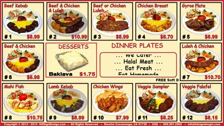 HD Sign Design Digital Menu App