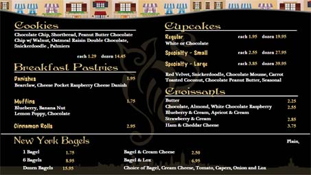 HD Sign Design digital menu signage